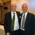 NYC Schools Deputy Chancellor Shael Polakow-Suransky congratulates director Ken Browne.