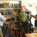 Filming tour of enamellist Karl Drerup home and studio in Plymouth, NH
